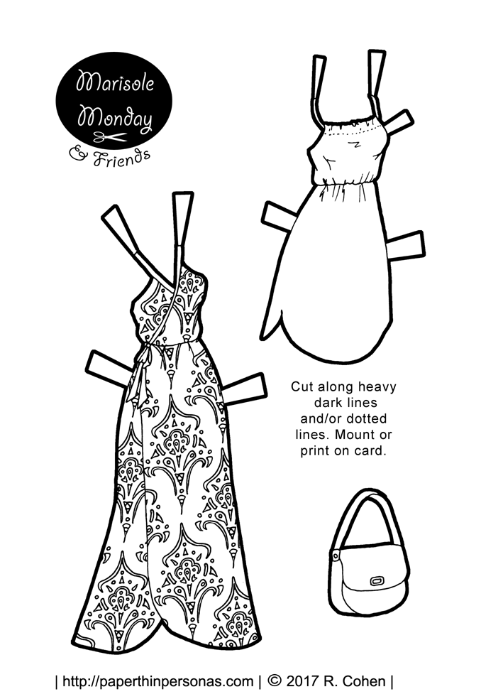 dress up dolls printable paper doll sundresses to print and play with for marisole dress dolls printable up