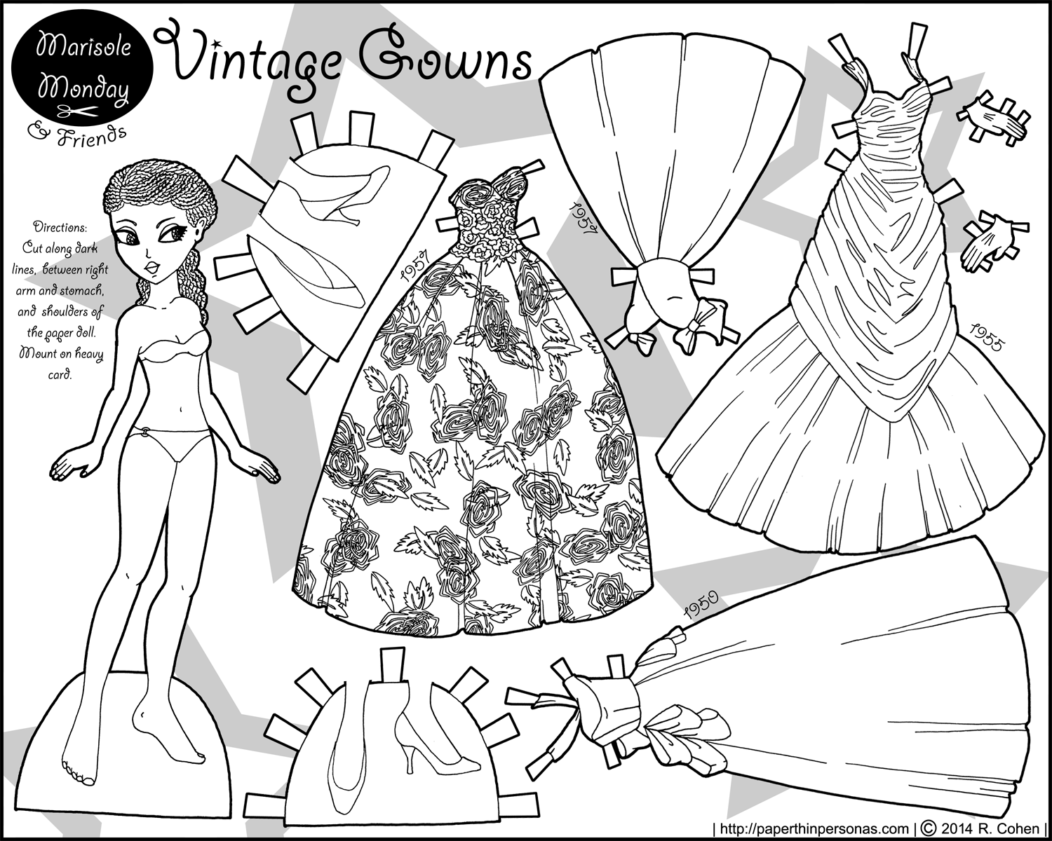 dress up dolls printable vintage gowns 1950s evening gowns in paper doll form dolls printable dress up
