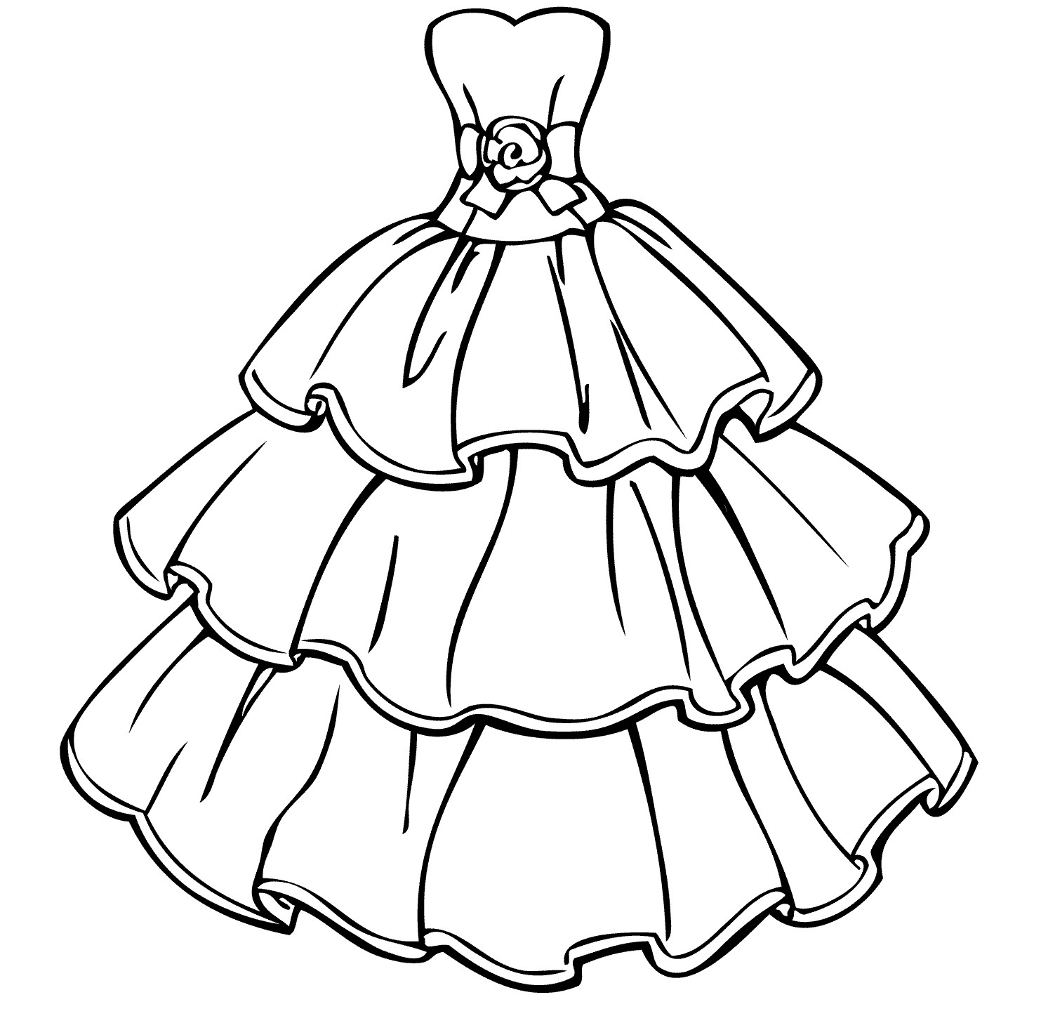 dresses coloring pages dress coloring pages to download and print for free pages dresses coloring