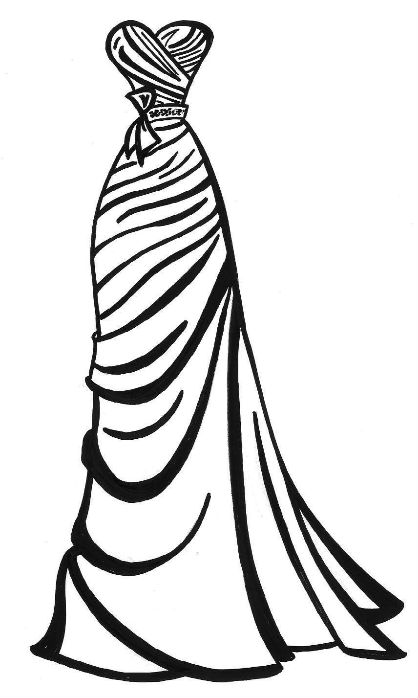 dresses coloring pages lady in pretty dress coloring page free clothing coloring pages dresses
