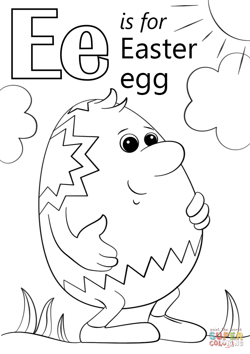 e for coloring letter e flashcard egg the learning site coloring e for