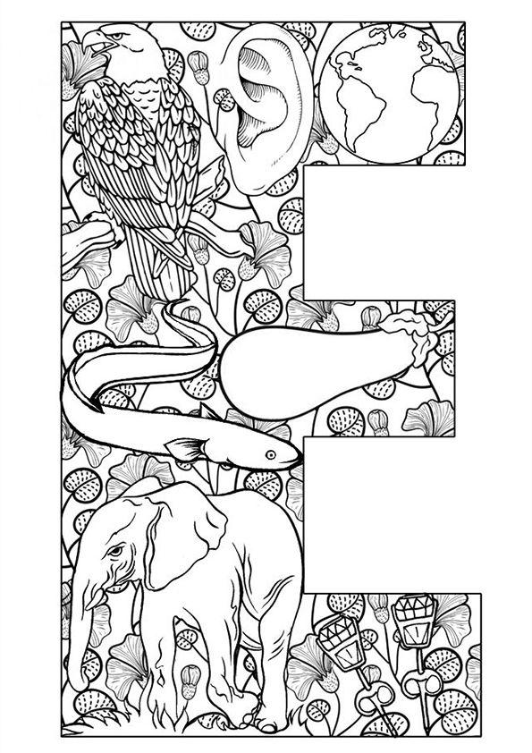 e for coloring letter e is for easter coloring page free printable coloring e for