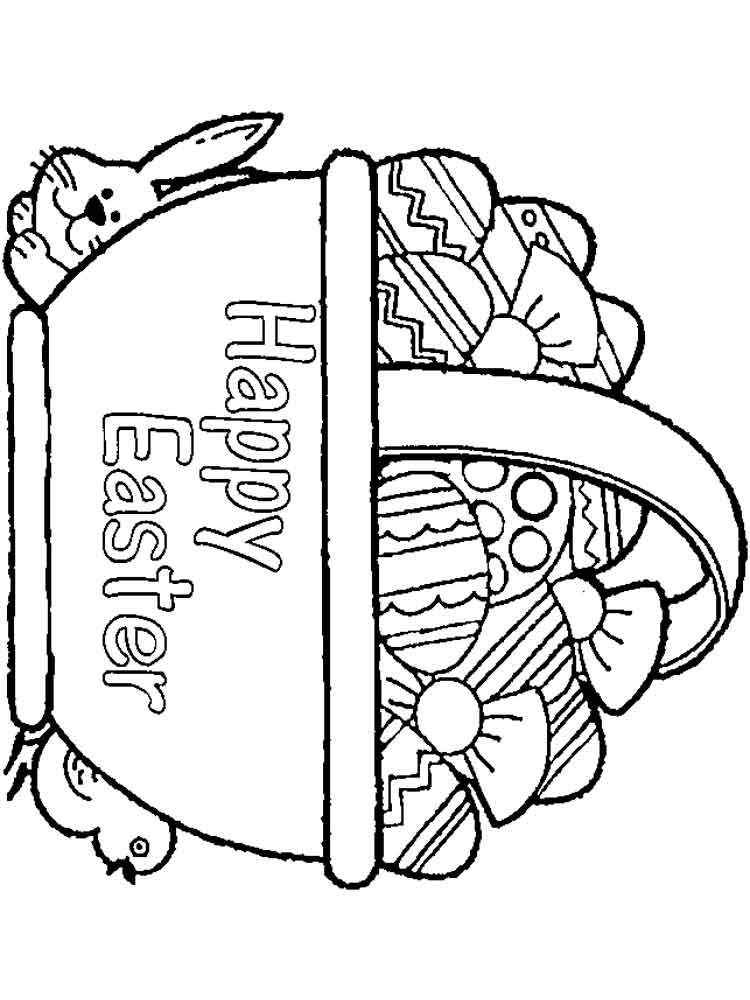 easter basket coloring pages to print easter basket printable coloring pages at getcoloringscom pages print to basket easter coloring