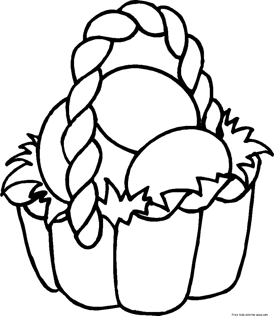 easter basket coloring pages to print easter egg basket coloring page netart basket print coloring to pages easter