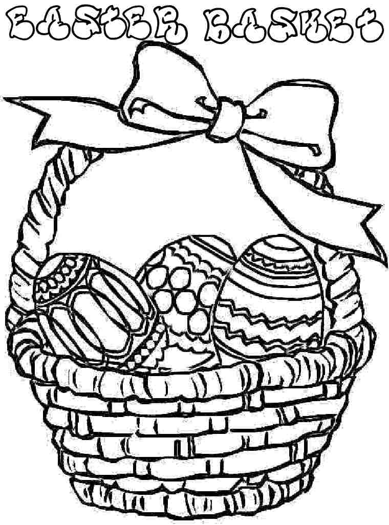easter basket coloring pages to print easter egg basket coloring pages coloring home pages print coloring easter basket to