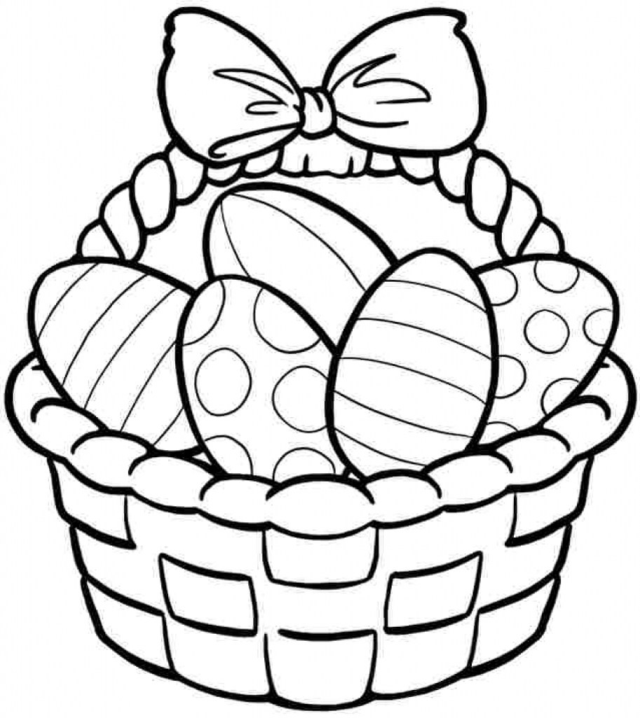 Easter basket coloring pages to print