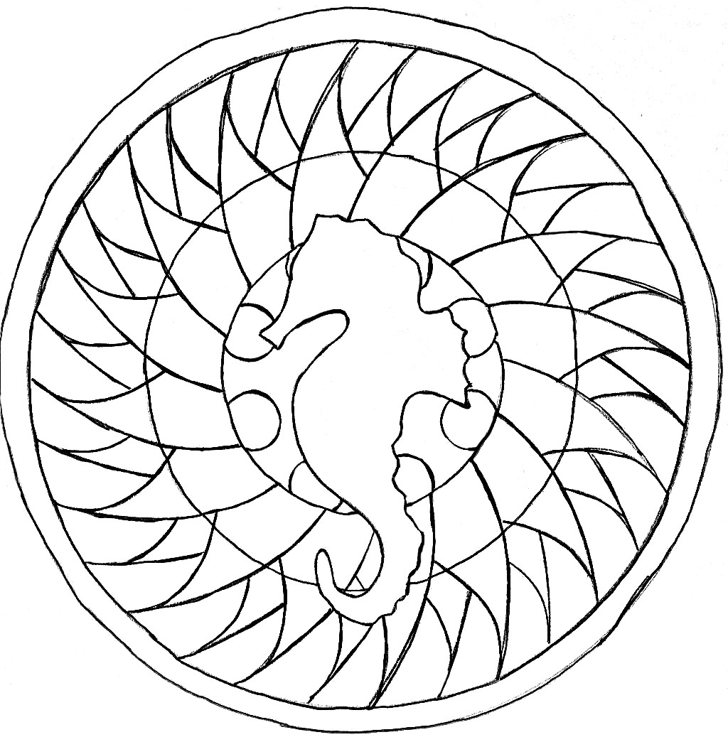 easy animal mandala coloring pages mandala with elegant wolf head and beautiful patterns m pages easy coloring animal mandala