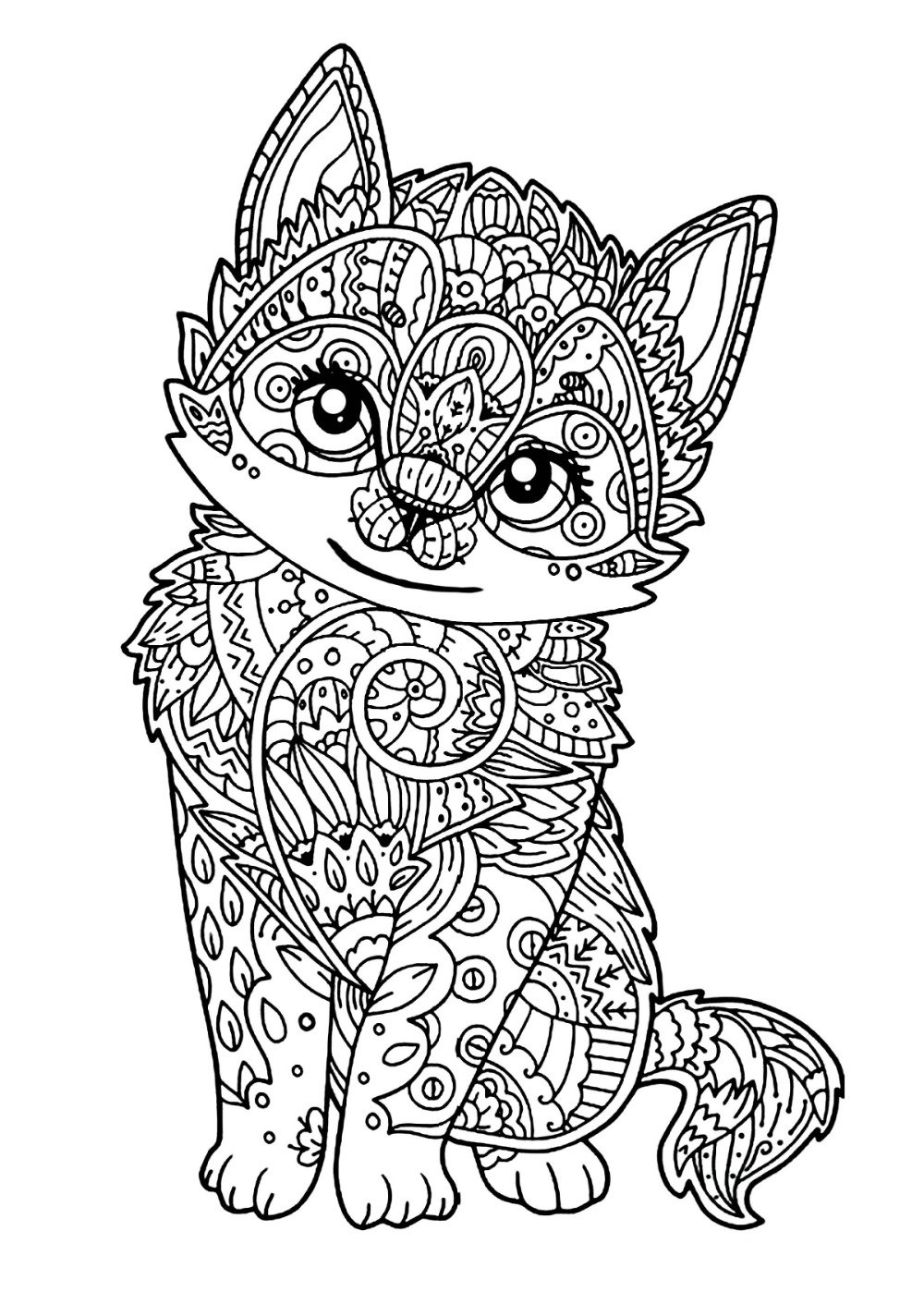 easy animal mandala coloring pages wolf animals coloring pages 100 mandalas zen anti pages easy mandala animal coloring