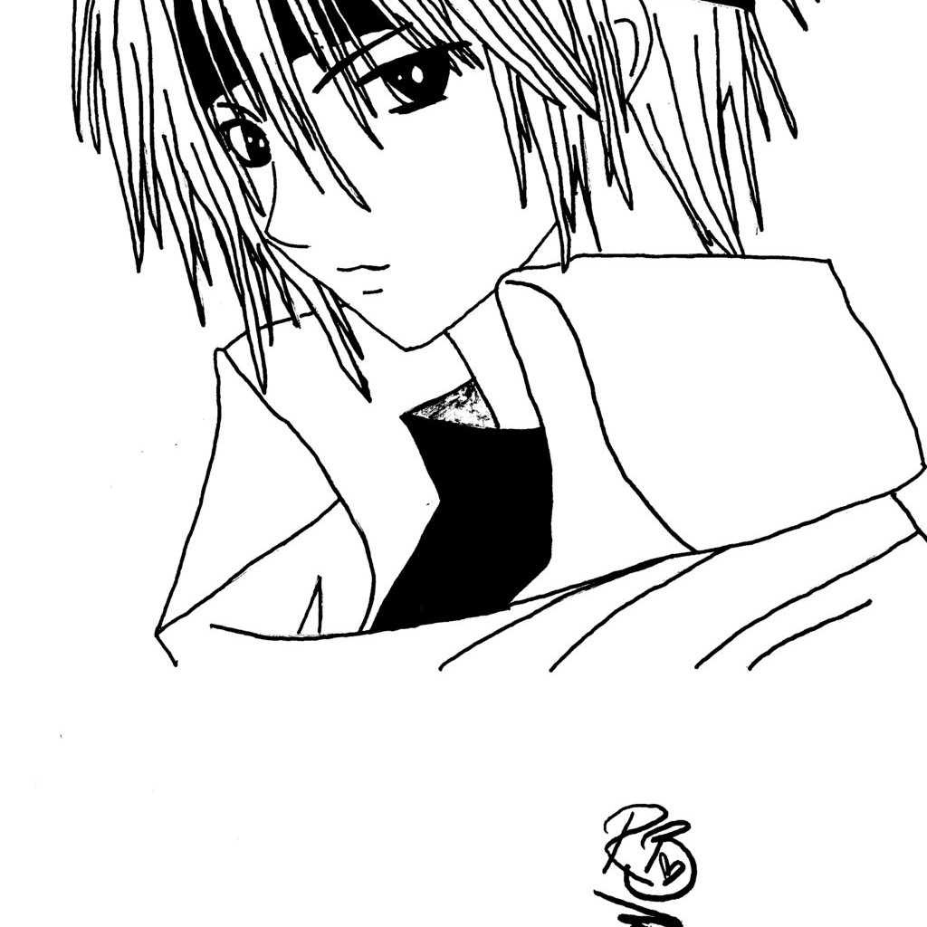 easy boy coloring pages anime boy coloring page anime drawing easy boy 600x470 coloring boy pages easy