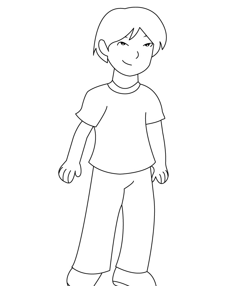 easy boy coloring pages cute boy coloring pages at getcoloringscom free boy easy coloring pages