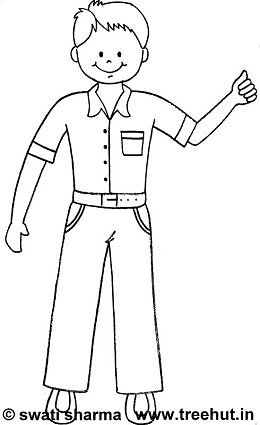easy boy coloring pages girl and boy colour in template pdf gambar coloring pages boy easy