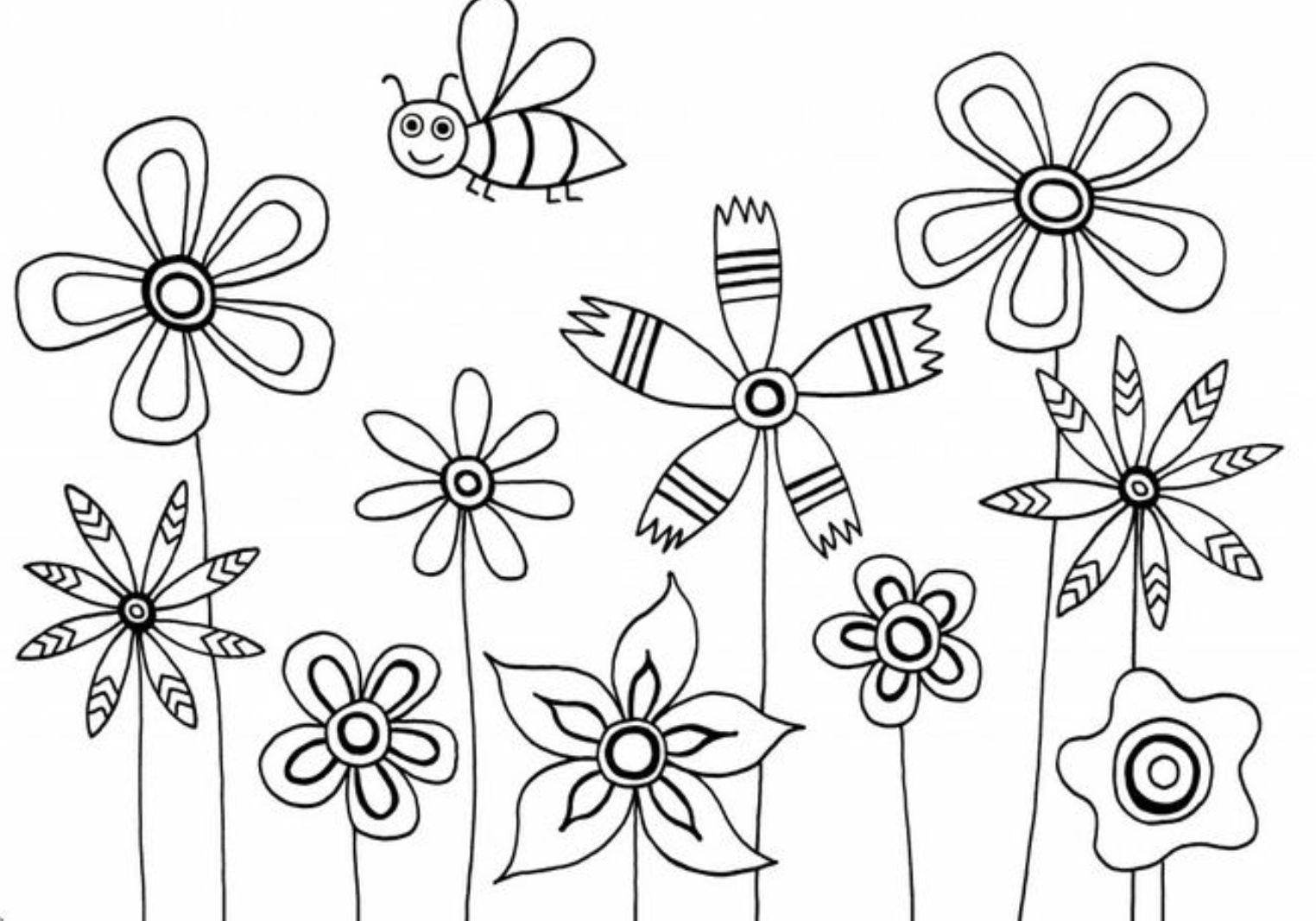 easy cute rose coloring pages cute flower coloring pages at getcoloringscom free rose easy coloring cute pages