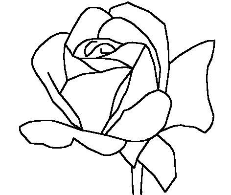 easy cute rose coloring pages flower coloring pages getcoloringpagescom cute coloring easy pages rose