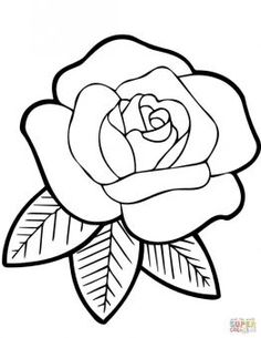 easy cute rose coloring pages free rose drawings download free clip art free clip art coloring cute pages rose easy