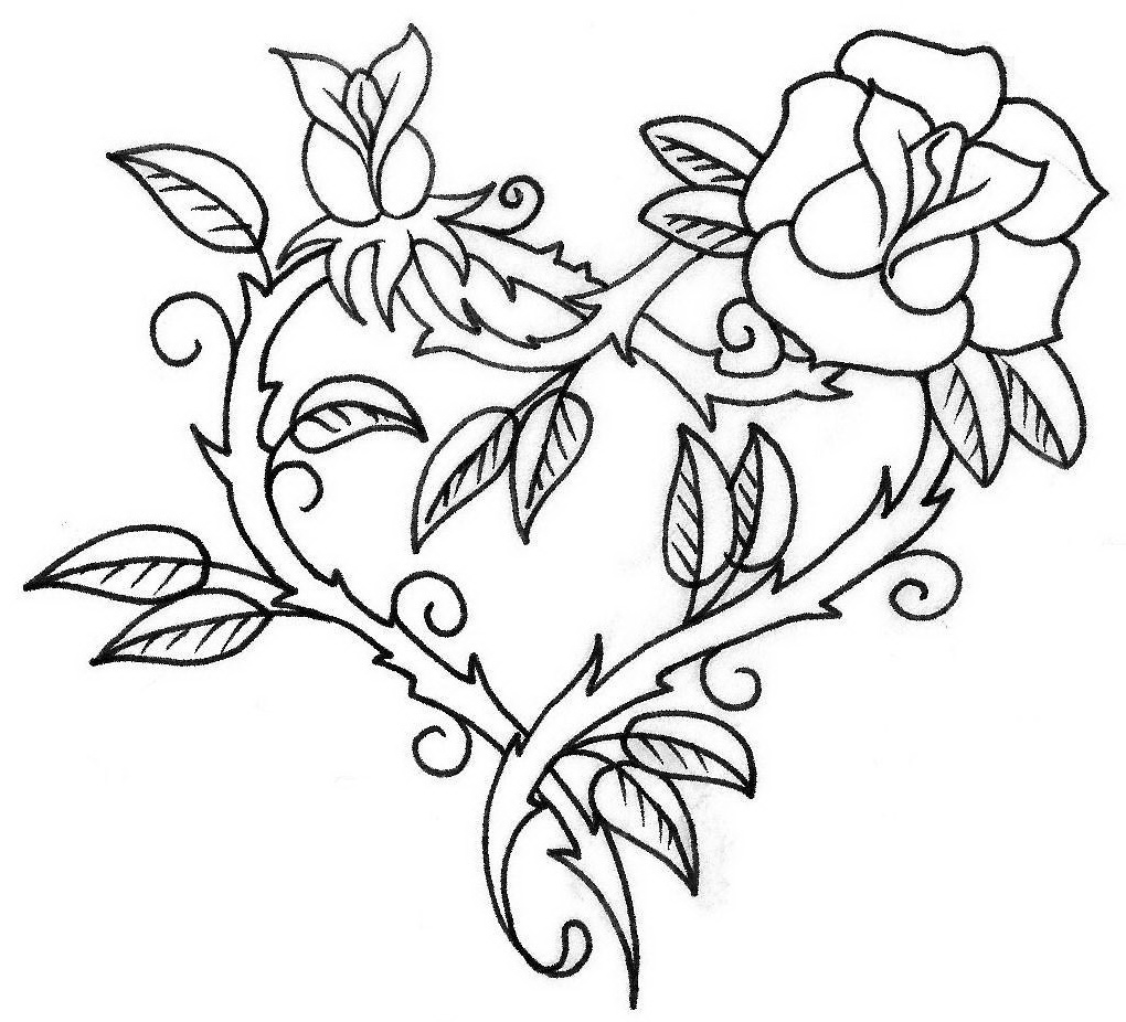 easy cute rose coloring pages free rose flower drawing download free clip art free easy cute pages coloring rose