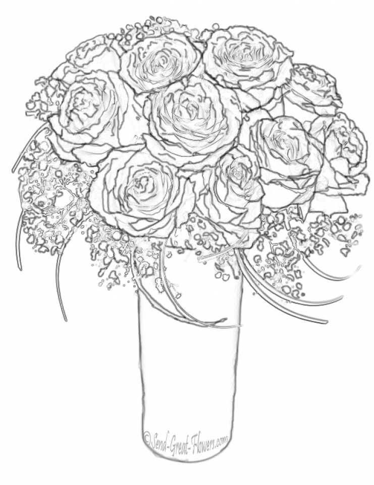 easy cute rose coloring pages get this roses coloring pages for adults free printable 9466 pages rose easy coloring cute
