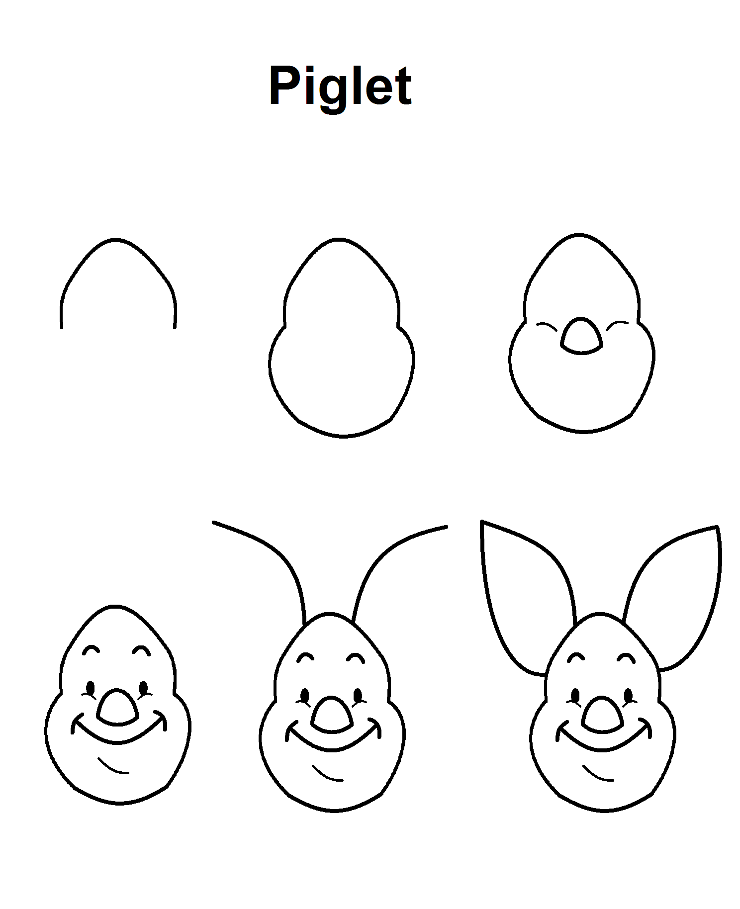 Easy step by step drawings of disney characters