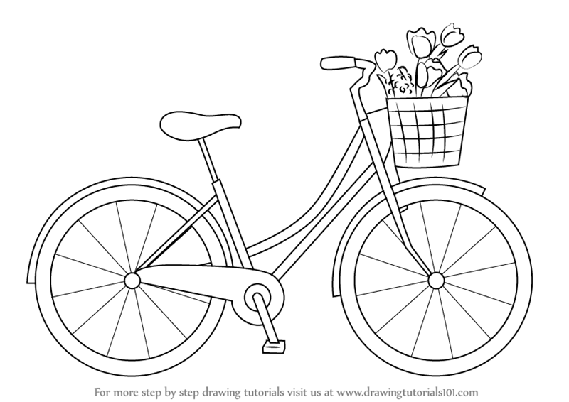 easy to draw bike drawing bicycle clipart best draw bike to easy