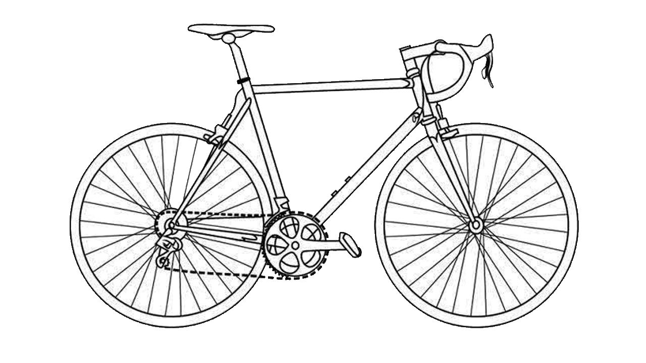 easy to draw bike easy bicycle drawing bicycledrawing drawing in 2020 draw to easy bike