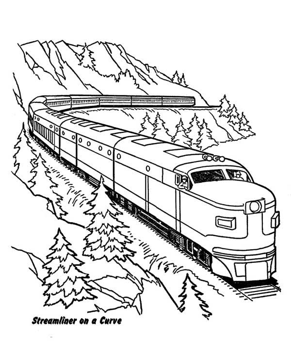 electric train coloring pages streamlined diesel engine train on railroad coloring page train coloring pages electric