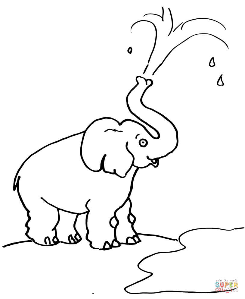 elephant trunk coloring pages elephant blow water out of his trunk coloring page free elephant trunk pages coloring