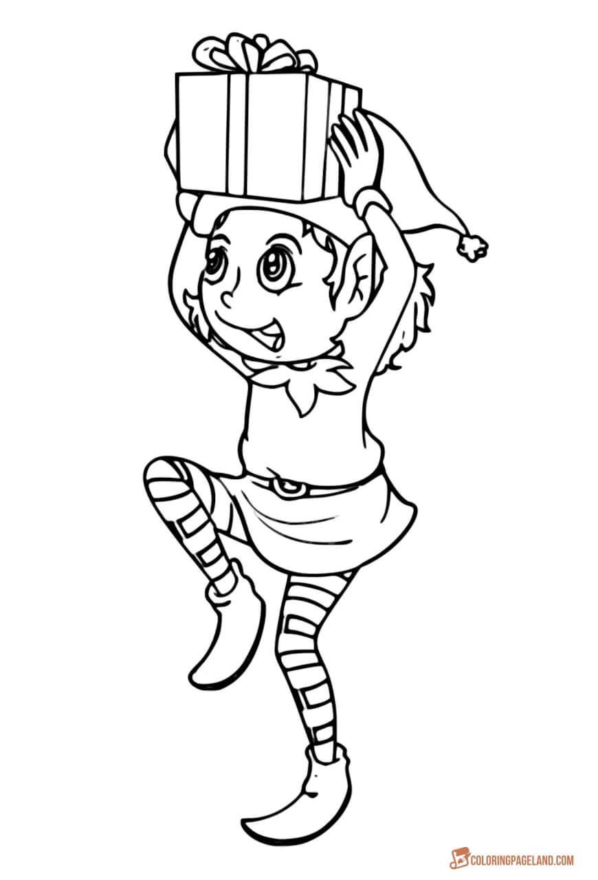 elf coloring christmas elf coloring pages coloring home elf coloring