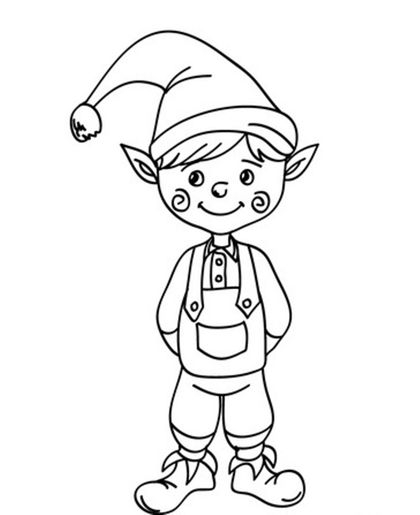 elf coloring online christmas elf printable coloring pages hubpages coloring elf