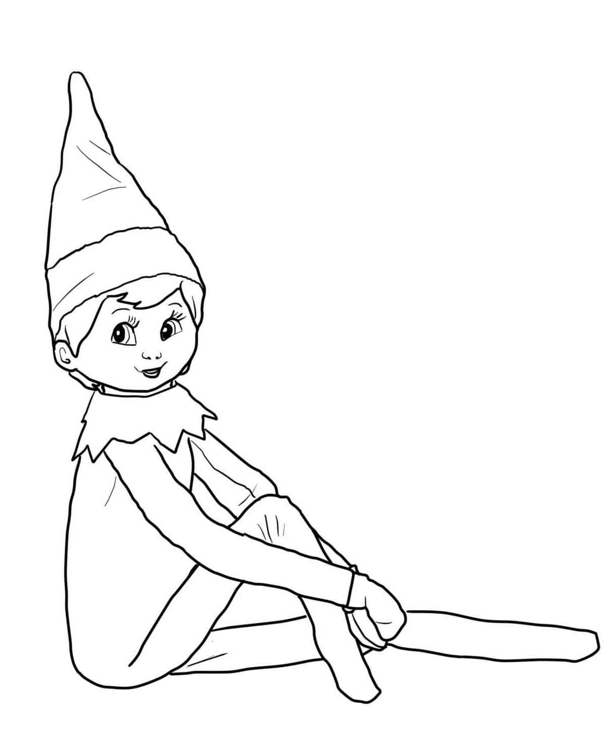 elf on the shelf coloring sheets 30 free printable elf on the shelf coloring pages shelf coloring the on elf sheets