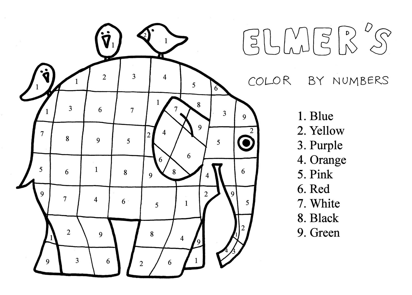 elmer the elephant coloring page elmer elephant coloring page elmer the elephants the elmer page coloring elephant