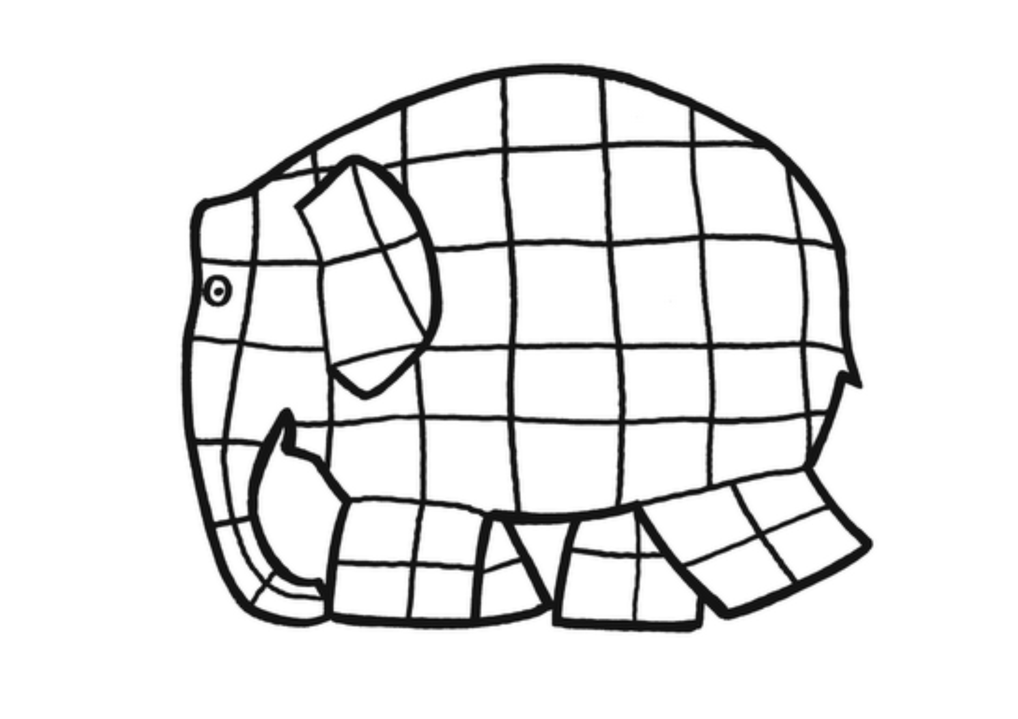 elmer the elephant coloring page elmer the patchwork elephant coloring page lines across coloring elmer the page elephant