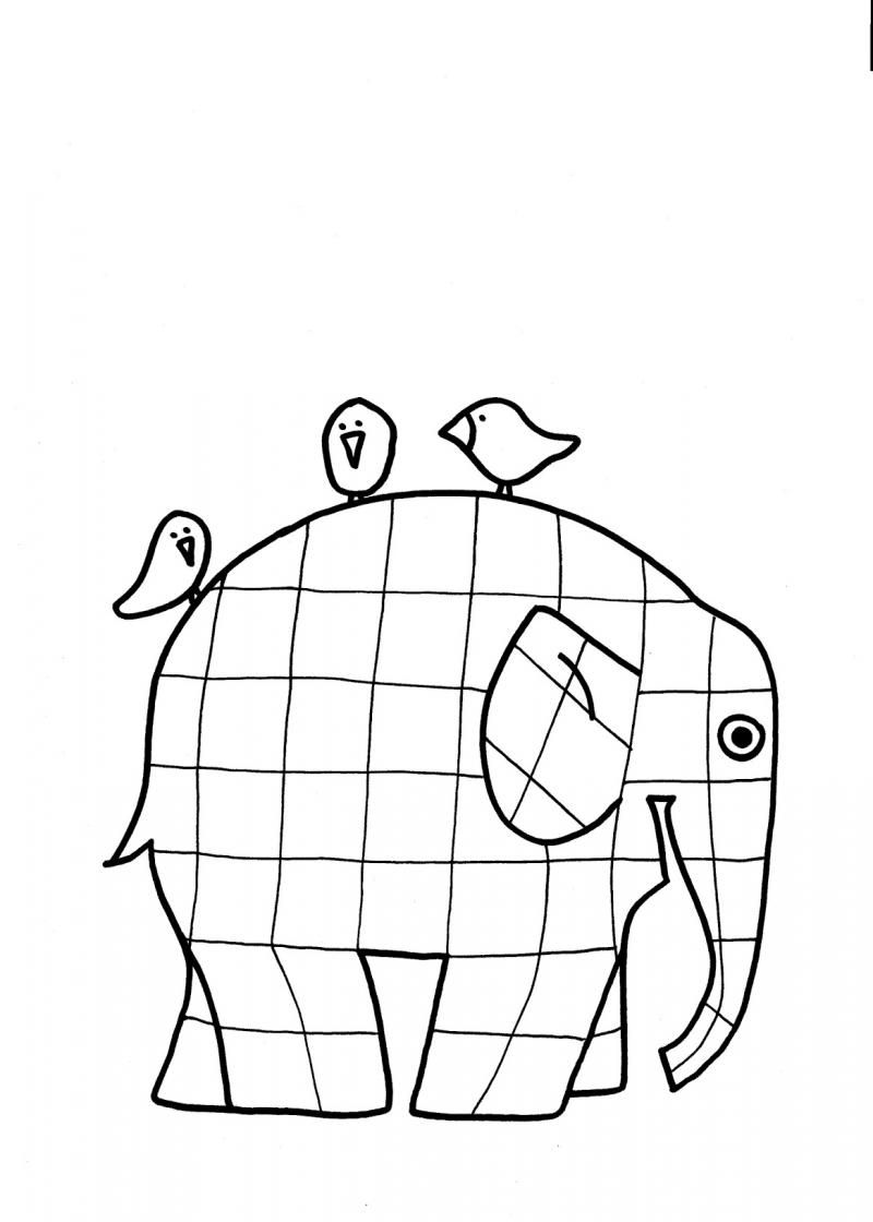 elmer the elephant coloring page elmer the patchwork elephant coloring page lines across elephant coloring the elmer page