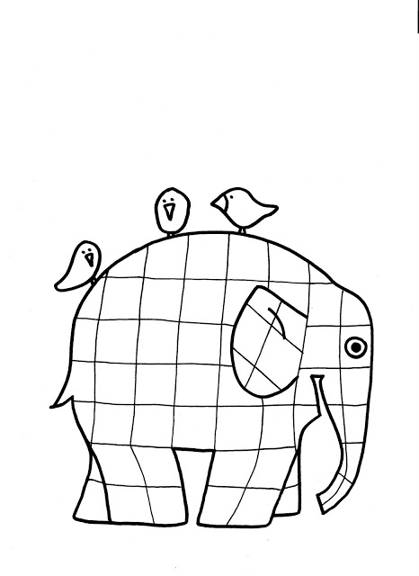 elmer the elephant coloring page quotlines acrossquot elmer the patchwork elephant coloring page elephant elmer page the coloring
