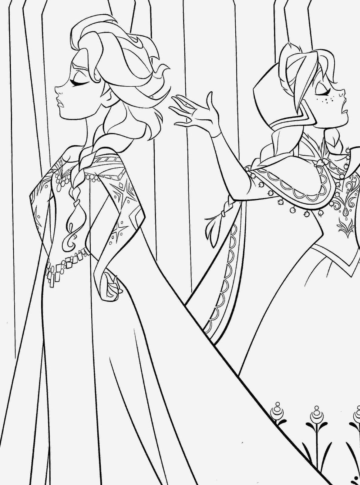 elsa and anna frozen coloring pages disney movie princesses quotfrozenquot printable coloring pages pages elsa coloring and frozen anna