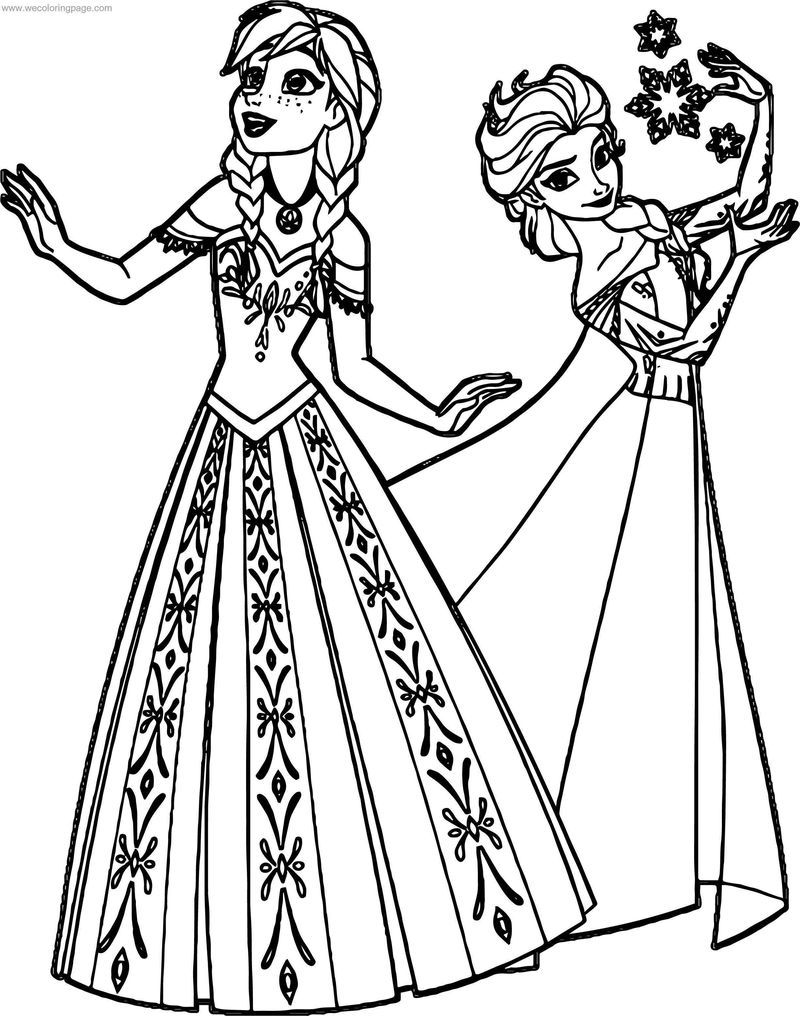 elsa and anna frozen coloring pages frozen anna elsa sisters coloring page frozen coloring and anna pages elsa