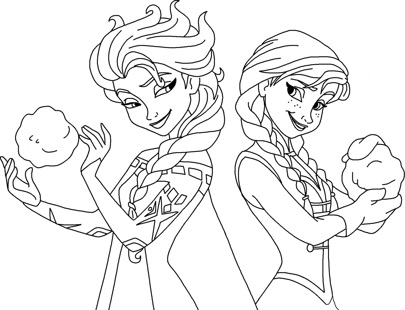 elsa and anna frozen coloring pages frozen elsa and anna coloring page free coloring pages and elsa coloring frozen anna pages
