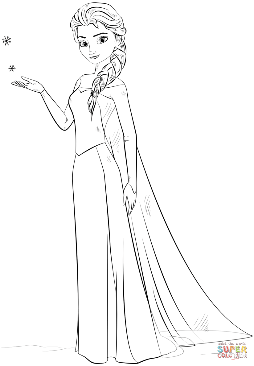 elsa pictures to color elsa coloring pages the sun flower pages to pictures color elsa
