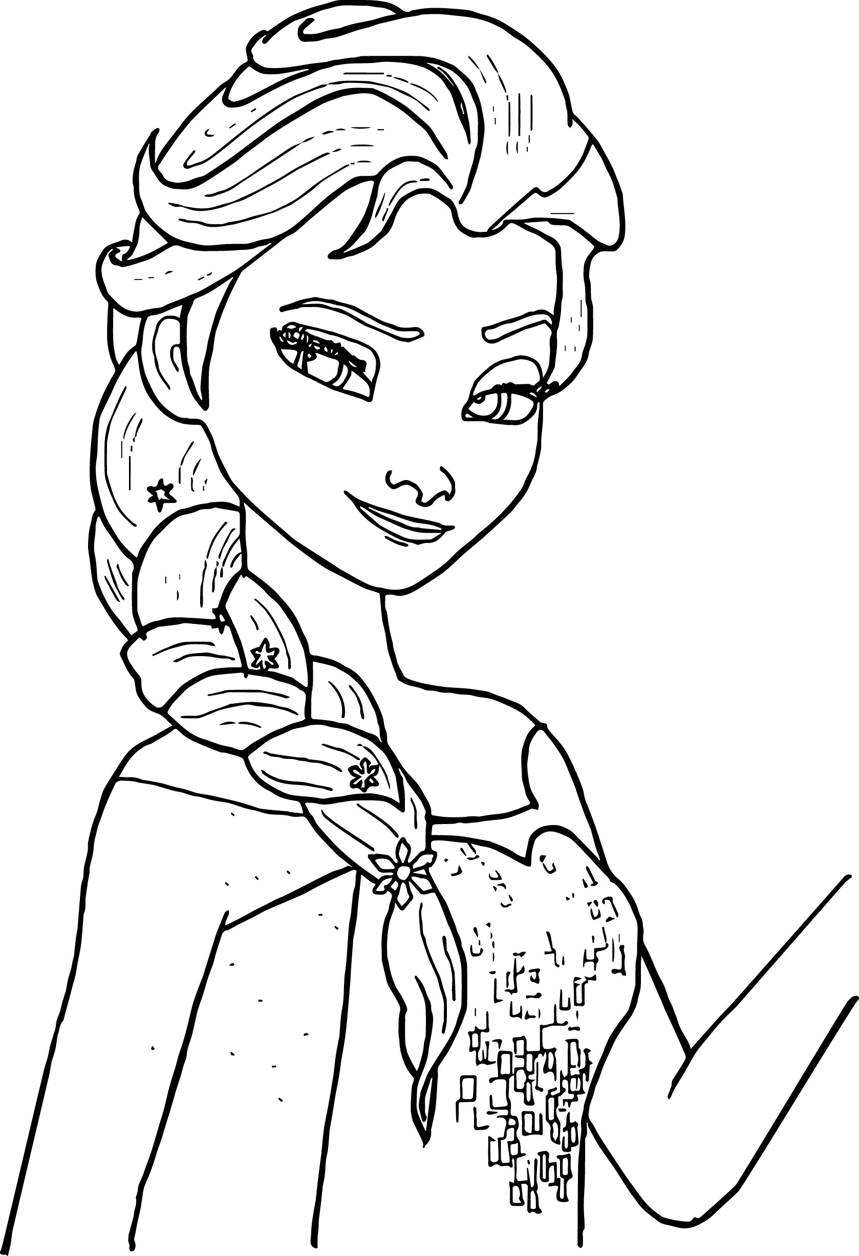elsa pictures to color free printable elsa coloring pages for kids best color pictures to elsa
