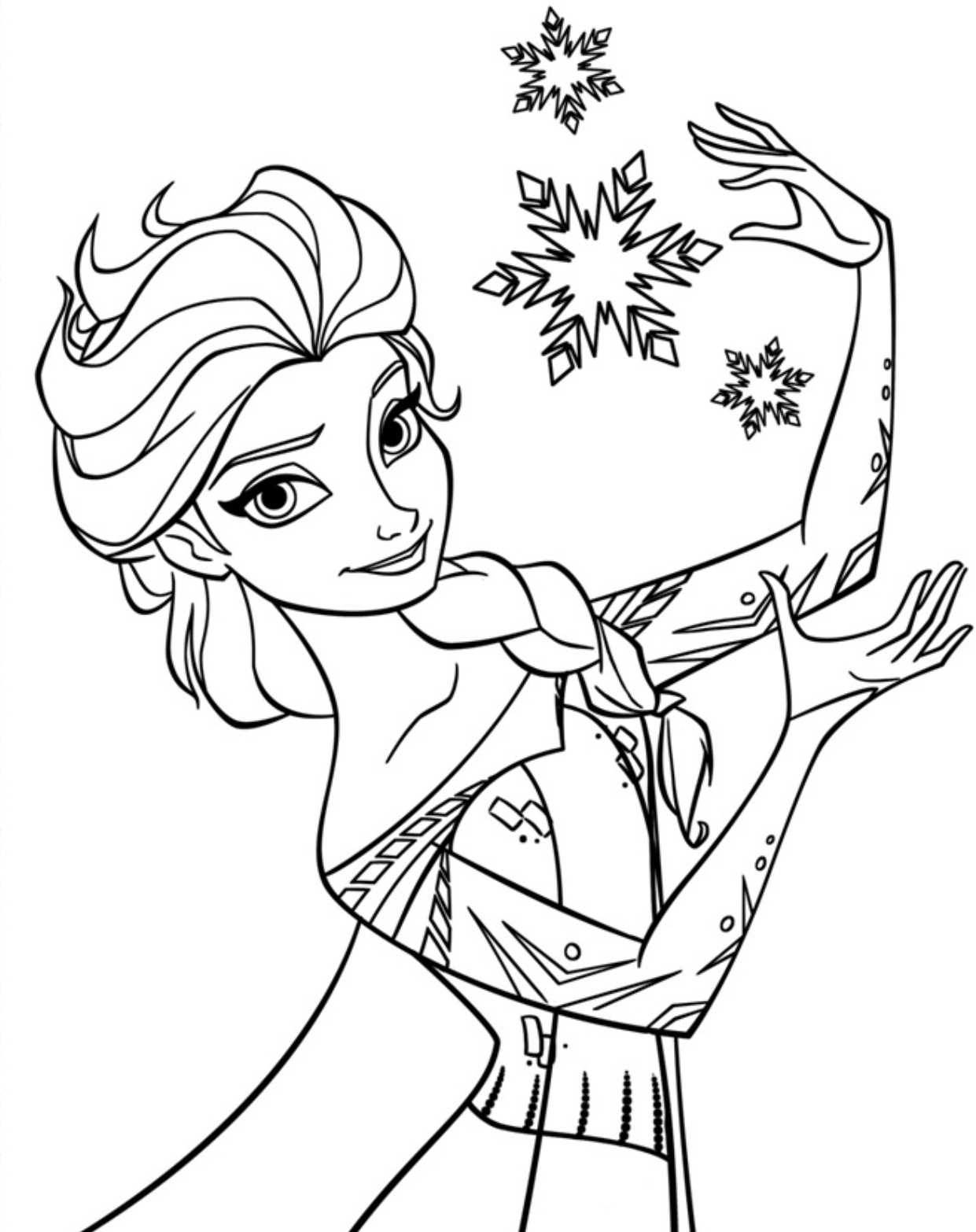 Elsa pictures to color