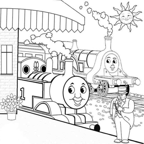 emily the tank engine coloring pages thomas coloring page thomas friends coloring pages free engine emily the tank pages coloring