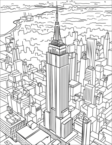 empire state building coloring page empire state building coloring page at getcoloringscom page state coloring building empire