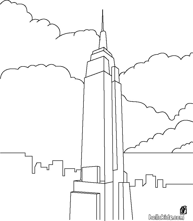 empire state building coloring page empire state building coloring page free printable building coloring empire state page