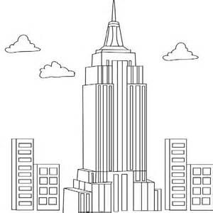 empire state building coloring page line drawing of emprie state building craft day building empire state page coloring