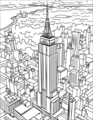 empire state building coloring page mount rushmore coloring page free printable coloring pages building coloring page state empire