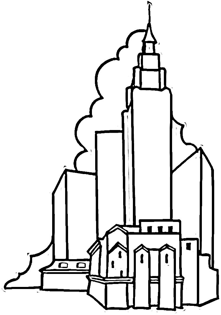 empire state building coloring page skyscrapers colouring pages empire state building page state building coloring empire