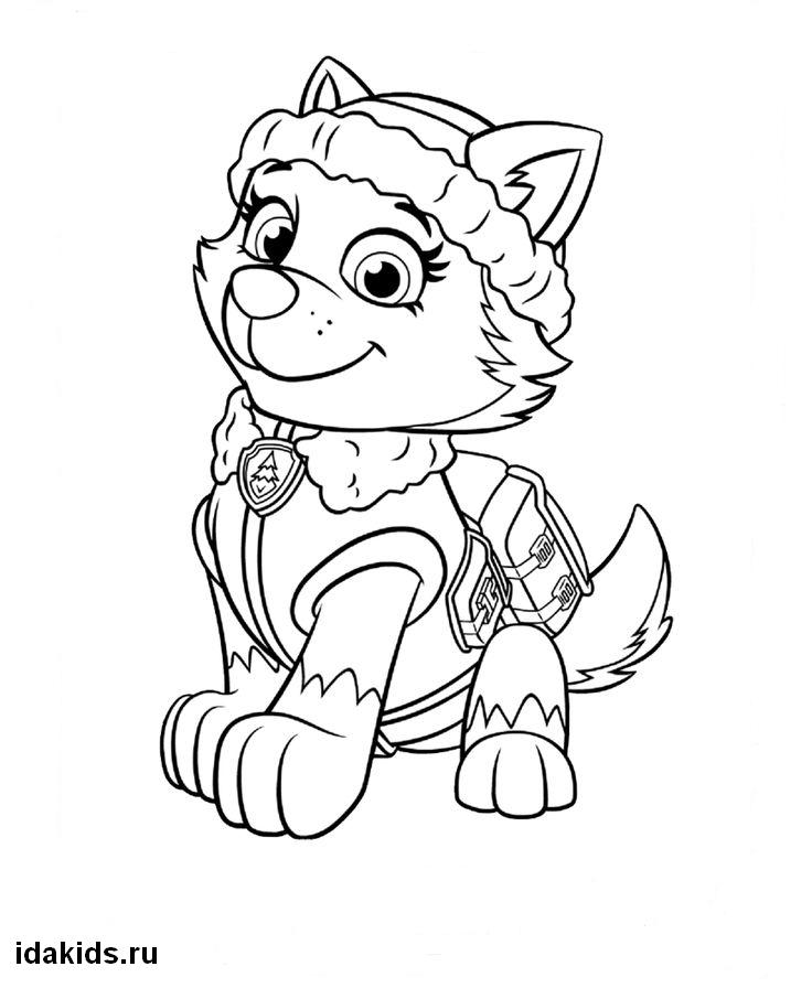 everest paw patrol coloring coloring book paw patrol print free a4 50 pictures paw patrol everest coloring