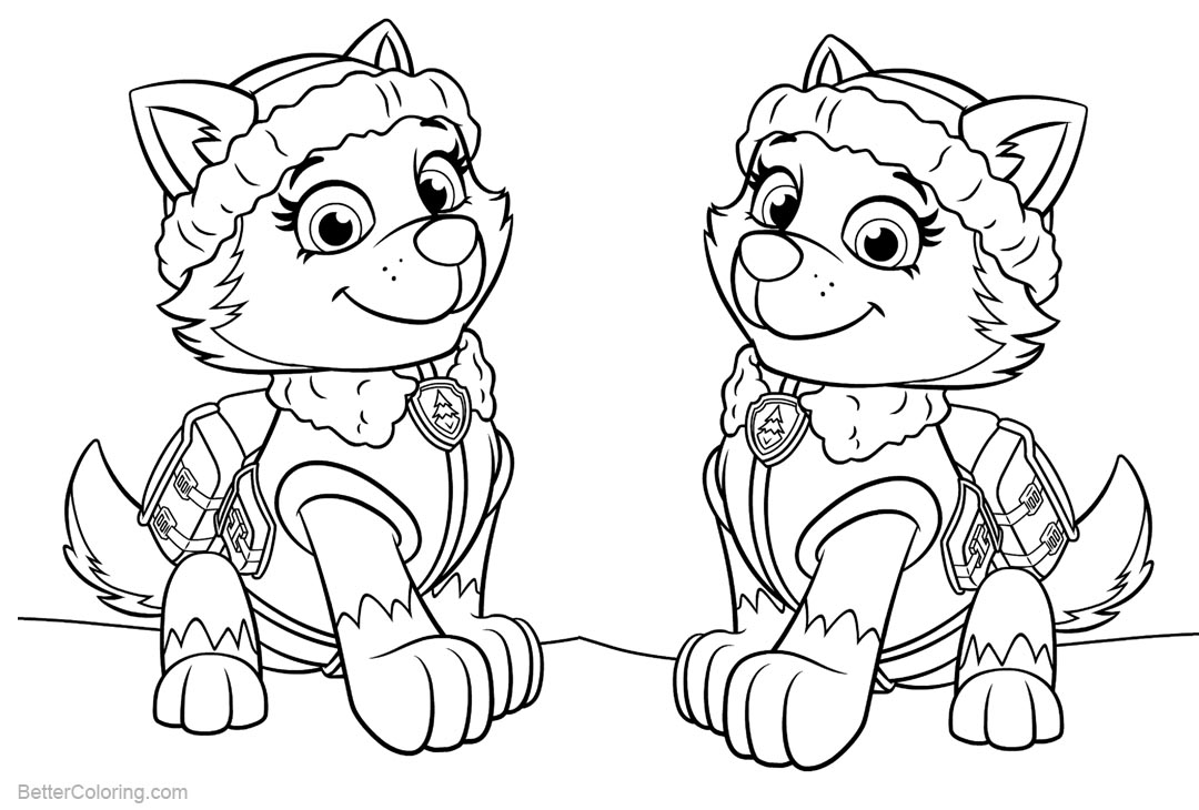 everest paw patrol coloring disegno di paw patrol everest da colorare disegni da patrol everest paw coloring