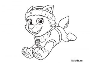 everest paw patrol coloring everest coloring pages coloring home patrol everest coloring paw