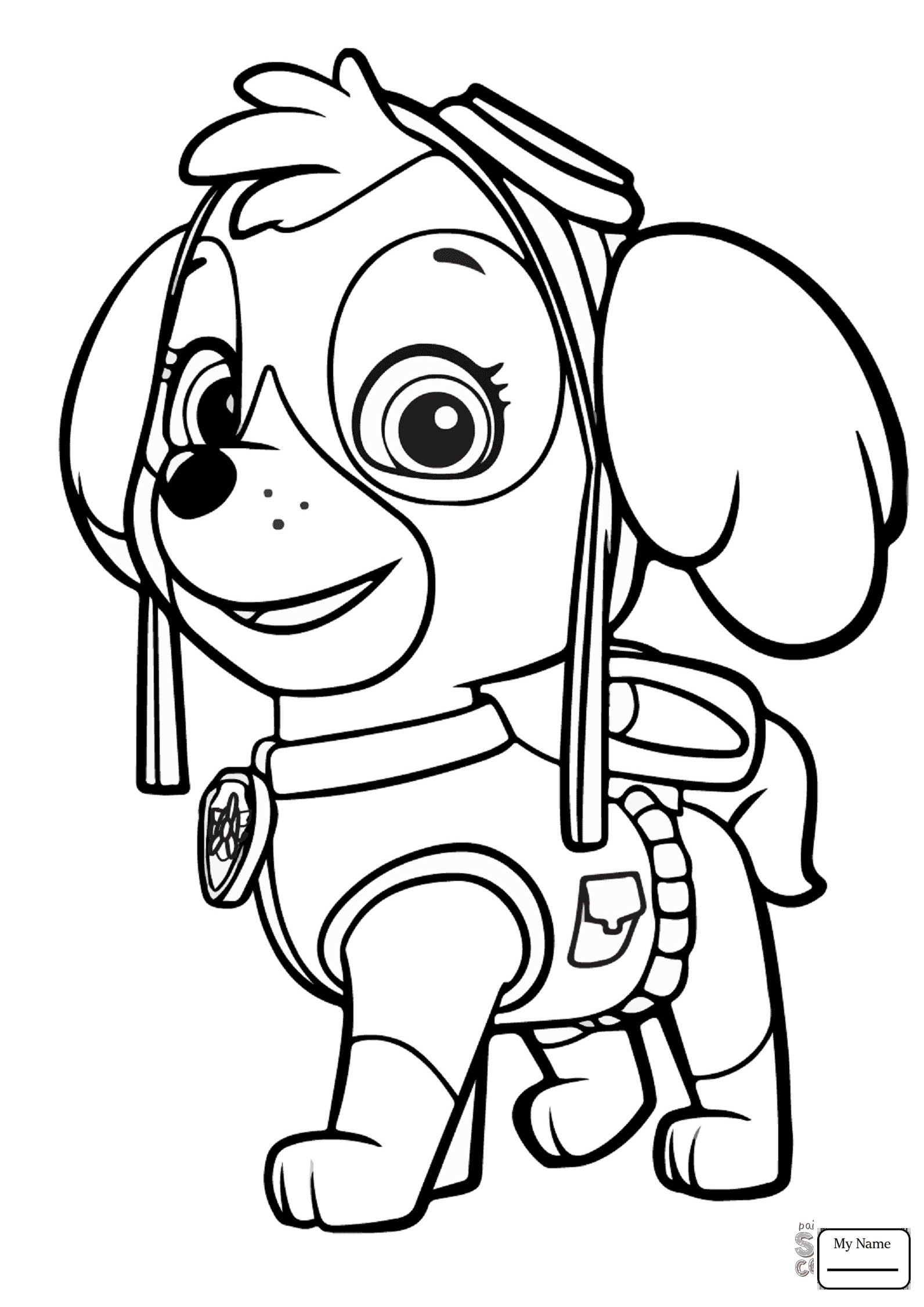 everest paw patrol coloring everest drawing at getdrawings free download everest coloring paw patrol