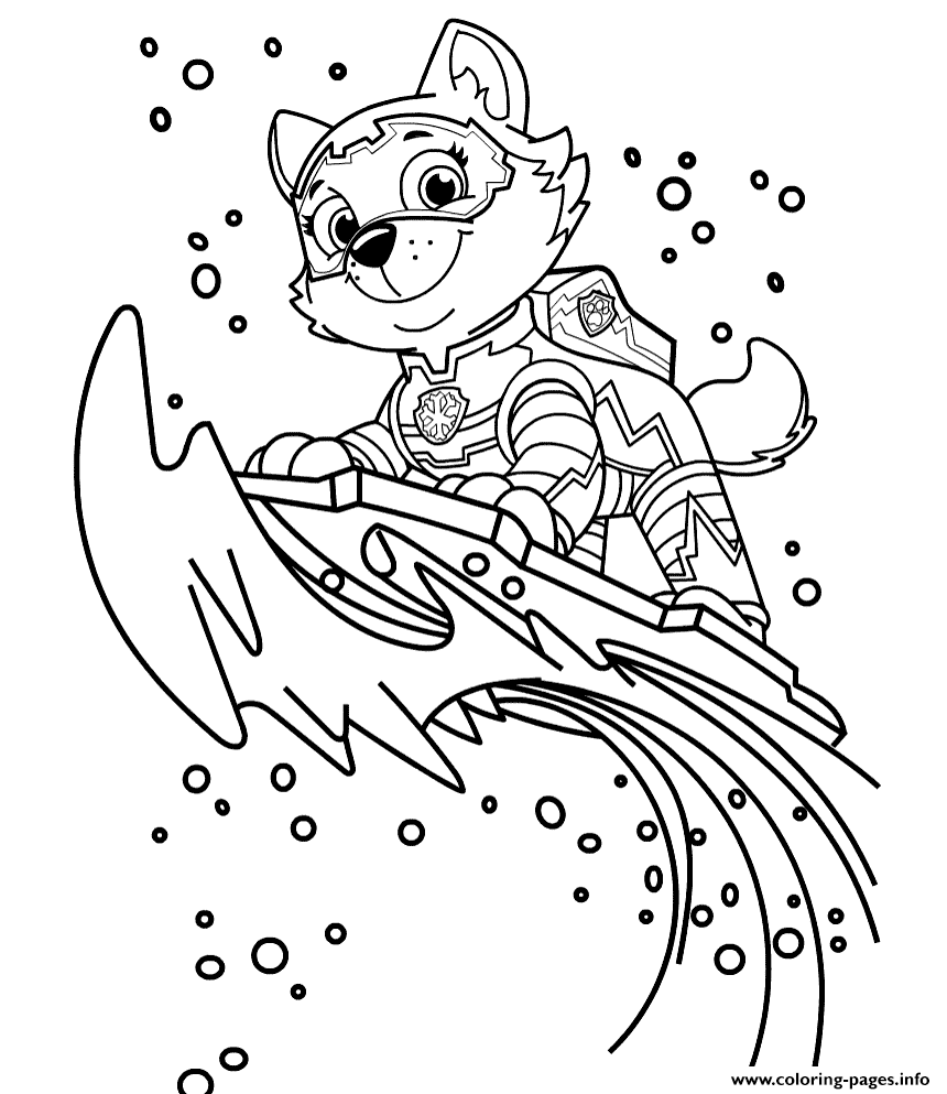 everest paw patrol coloring everest paw patrol coloring lesson kids coloring page patrol everest coloring paw