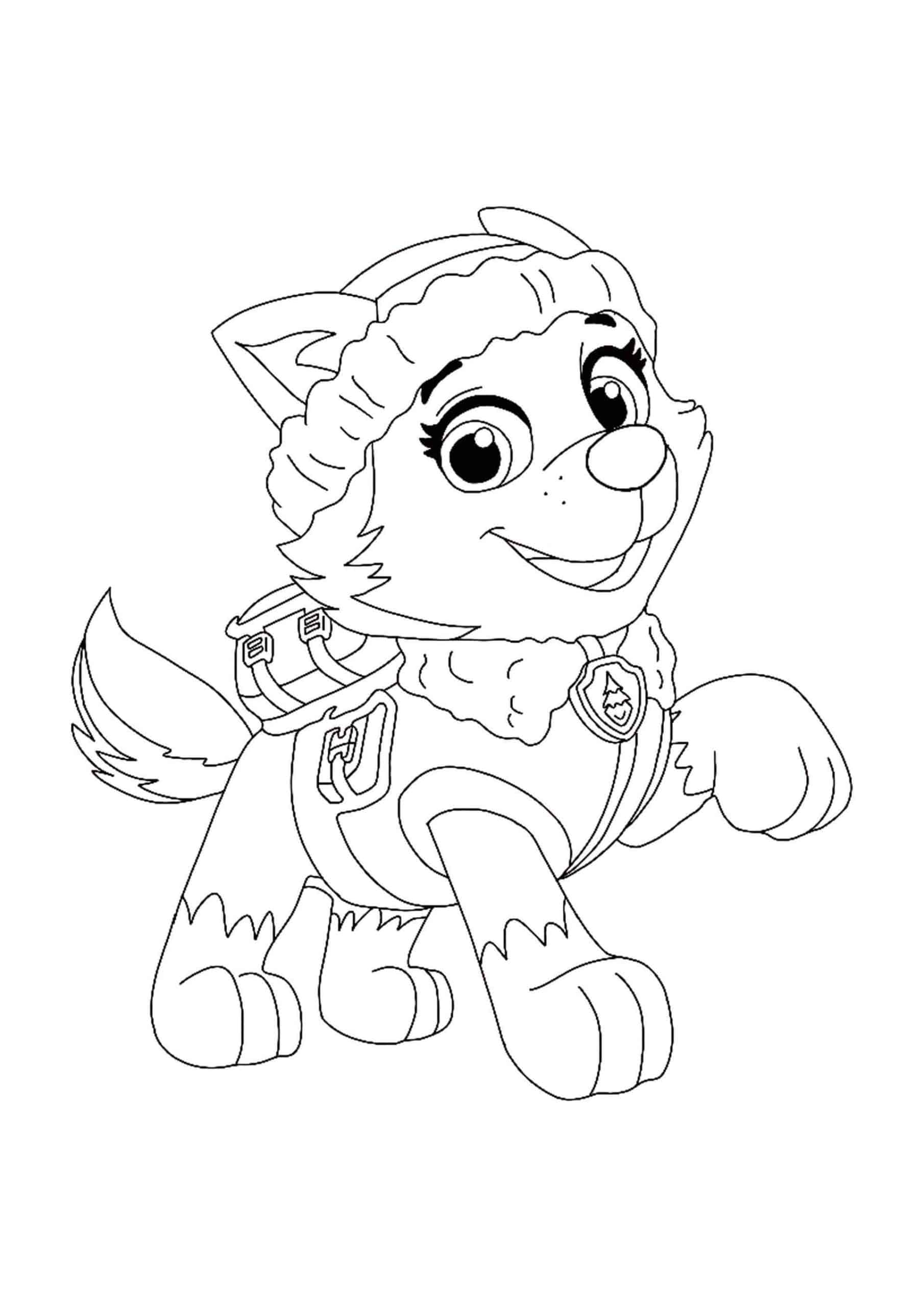 everest paw patrol coloring mighty pups paw patrol everest coloring pages printable paw patrol coloring everest